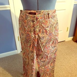 The retro paisley pant perfect for work or play!